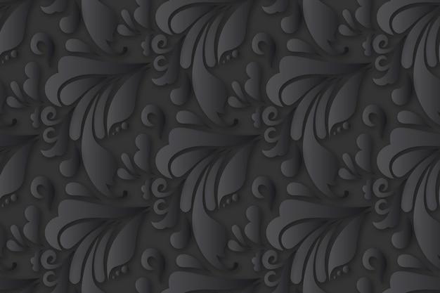Abstrakter dekorativer mit blumenhintergrund