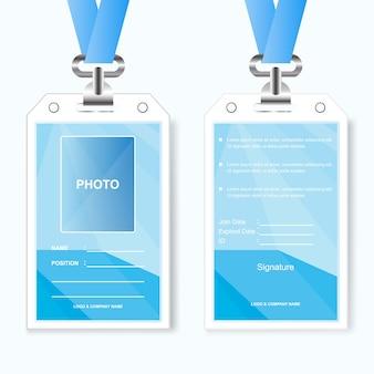 Abstrakter design id kartenhalter unternehmen