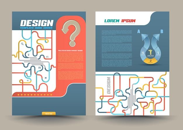 Abstrakter designvektor-schablonenplan