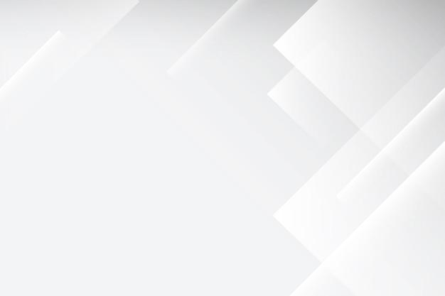 Abstrakter desktop-hintergrund, weißer geometrischer designvektor