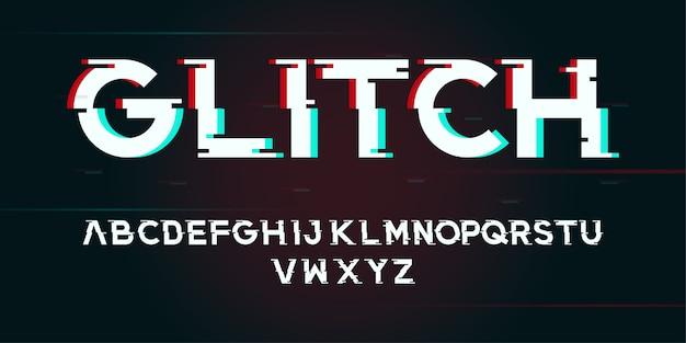 Abstrakter digitaler alphabetguß des störschubs