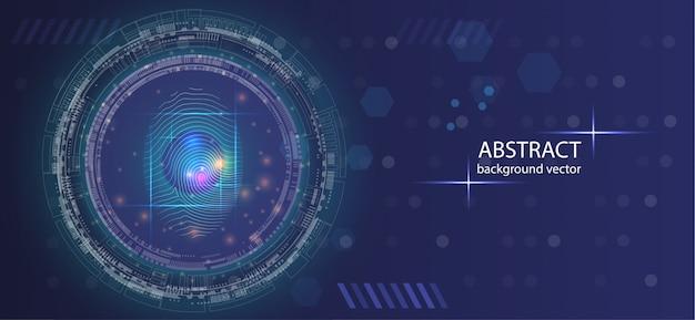 Abstrakter digitaler begriffsfingerabdruck-technologiesicherheitshintergrund.