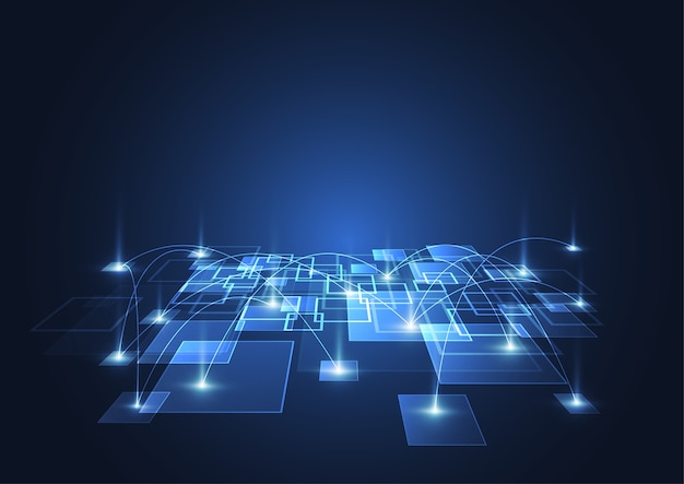 Abstrakter digitaler großer datenhintergrund mit technologie