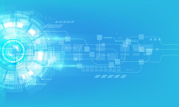 Abstrakter digitaler hightech- technologieinnovationshintergrund