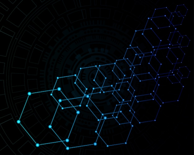 Abstrakter digitaler hintergrund der technologie