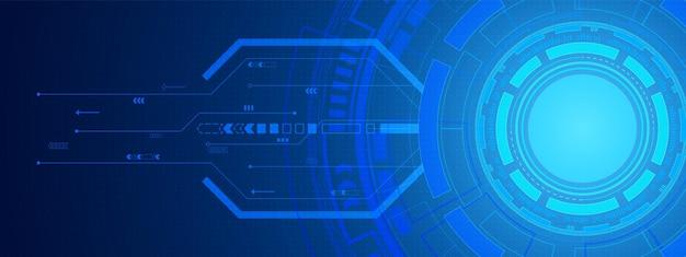 Abstrakter digitaler hintergrund des kreises, schaltungstechnik, punktmuster, leerzeichen der schaltfläche