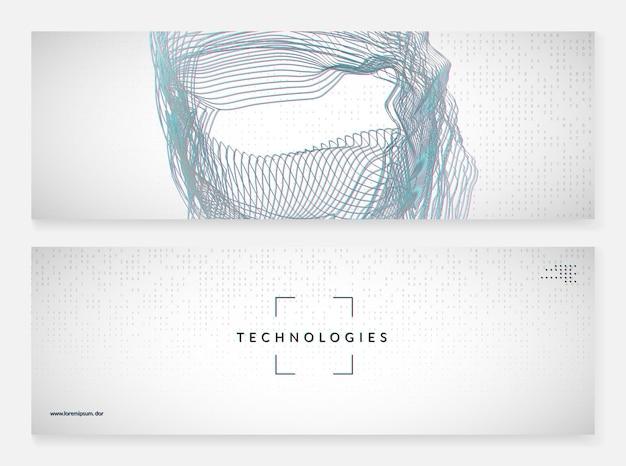 Abstrakter digitaler hintergrund. künstliche intelligenz, deep learning und big data-konzept. quantentechnologie. tech-visual für datenbankvorlage. moderner abstrakter digitaler hintergrund.