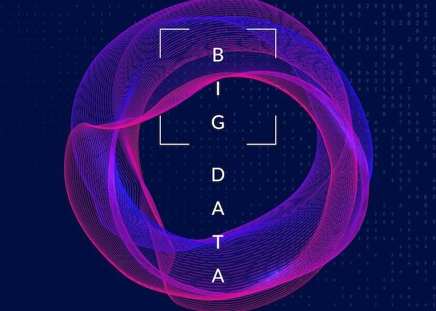 Abstrakter digitaler hintergrund. künstliche intelligenz, deep learning und big data-konzept. quantentechnologie. tech-visual für systemvorlage. moderner abstrakter digitaler hintergrund.