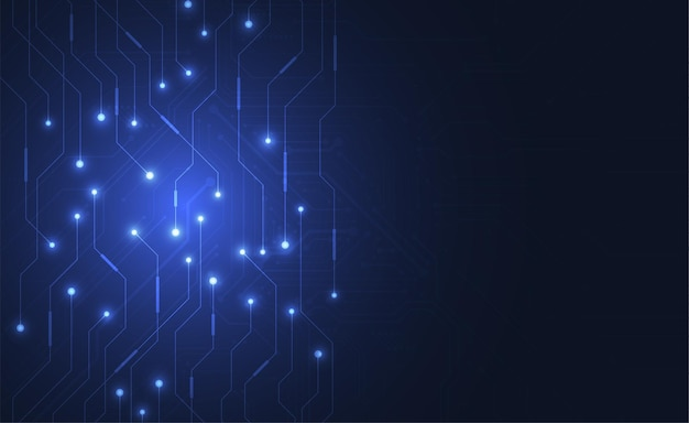 Abstrakter digitaler hintergrund mit technologie-leiterplattenbeschaffenheit. elektronische hauptplatine