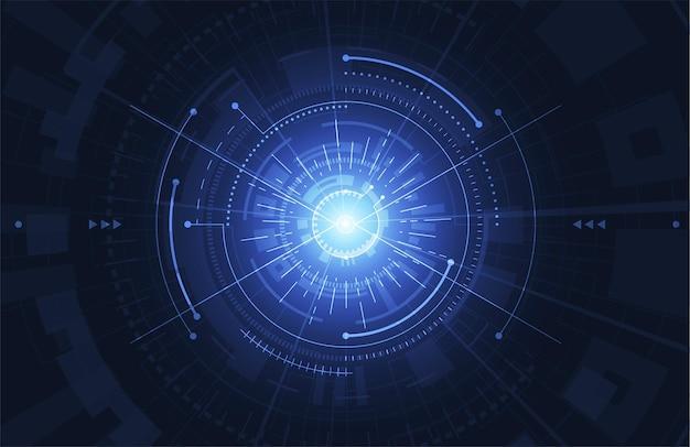 Abstrakter digitaler hintergrund mit technologie-leiterplattenbeschaffenheit.