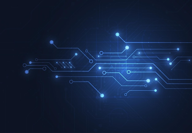 Abstrakter digitaler hintergrund mit technologieleiterplattenbeschaffenheit. abbildung der elektronischen hauptplatine. kommunikations- und engineering-konzept. vektor-illustration