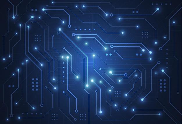 Abstrakter digitaler hintergrund mit technologieleiterplattenbeschaffenheit