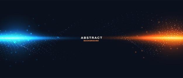 Abstrakter digitaler technologiehintergrund mit glühendem lichteffekt