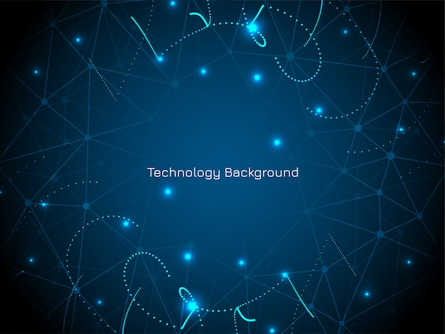 Abstrakter digitaltechnik-blauhintergrund