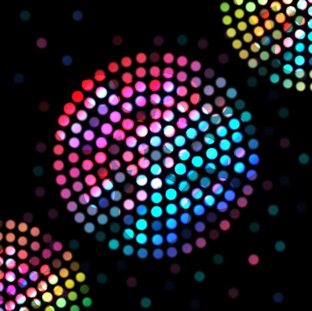 Abstrakter disko heller hintergrund