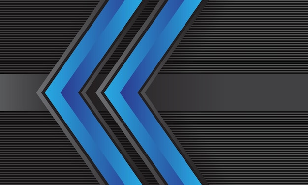 Abstrakter doppelter blauer pfeilrichtung graue linien mustertechnologie futuristischer kreativer hintergrund