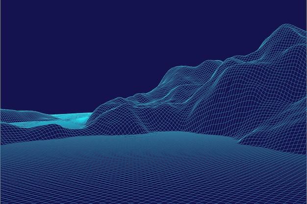 Abstrakter drahtmodell-hintergrund