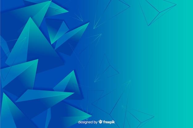 Abstrakter dreidimensionaler geometrischer formhintergrund