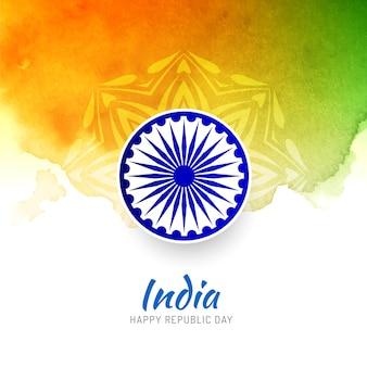 Abstrakter dreifarbiger indischer flaggenhintergrund
