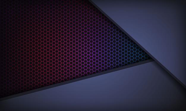 Abstrakter dunkelblauer hintergrund mit deckschichten. beschaffenheit mit buntem hexagonmuster.