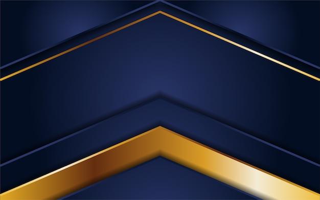 Abstrakter dunkelblauer hintergrund mit goldenen linien
