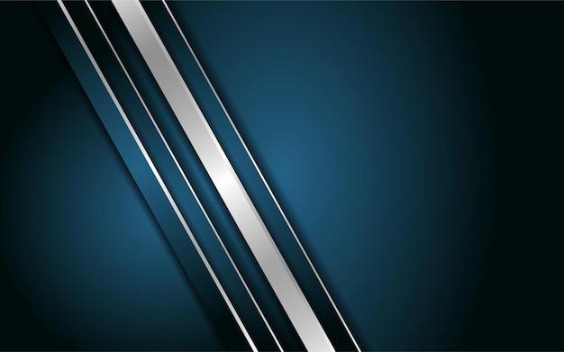 Abstrakter dunkelblauer hintergrund mit metallischer linie