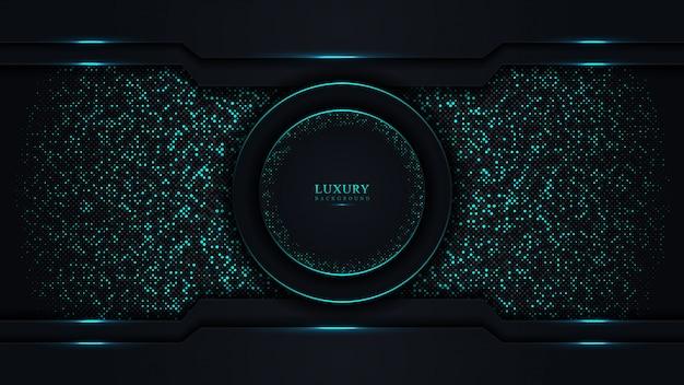 Abstrakter dunkelblauer luxushintergrund.