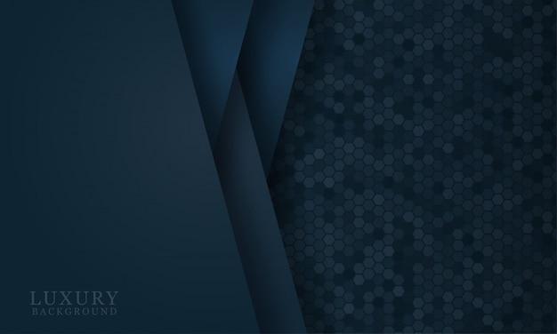 Abstrakter dunkelblauer papierschnitthintergrund mit einfachen formen. moderne vektorillustration für konzeptentwurf