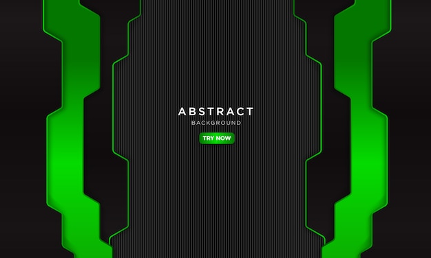 Abstrakter dunkelgrüner hintergrund mit moderner form, zukünftiges roboterkonzept