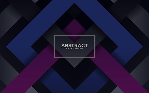 Abstrakter dunkler hintergrund mit blauer und purpurroter geometrischer form