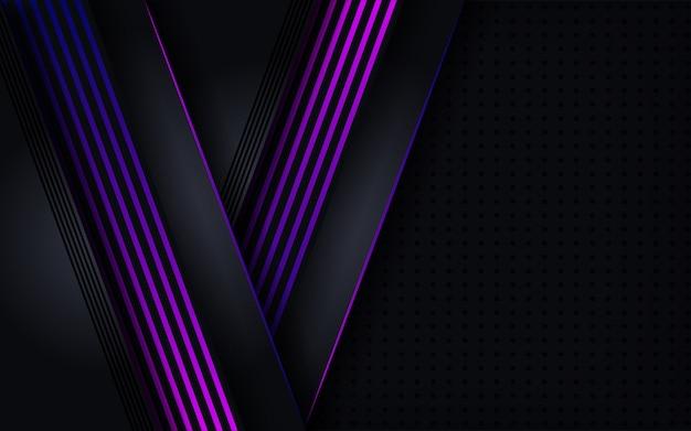 Abstrakter dunkler hintergrund mit shinny purpurroten linien