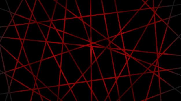 Abstrakter dunkler hintergrund von sich kreuzenden linien in roten farben