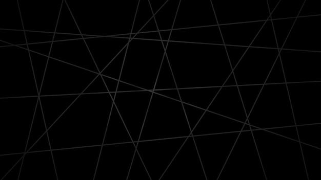 Abstrakter dunkler hintergrund von sich kreuzenden linien in schwarzen farben