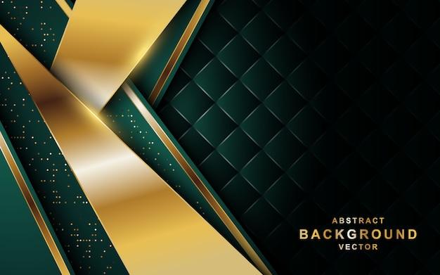 Abstrakter dunkler luxushintergrund mit goldenen linien und funkeln.