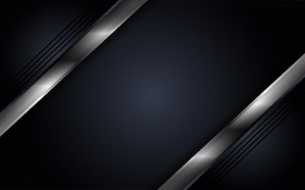 Abstrakter dunkler luxushintergrund mit mettalic linien kombinationen
