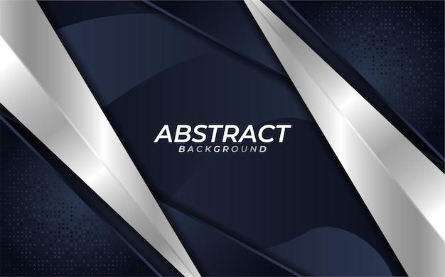 Abstrakter dunkler marinehintergrund mit überlappungsschichttextur und metallischen linien