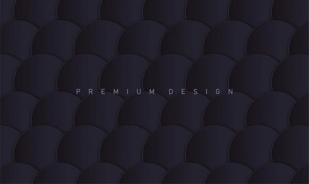 Abstrakter dunkler premiumhintergrund mit papierkreisen für abdeckung oder plakat