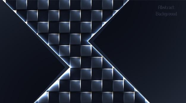 Abstrakter dunkler quadratischer hintergrund