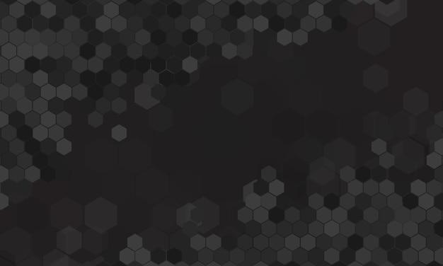 Abstrakter dunkler sechseckiger hintergrund. vektor-illustration.