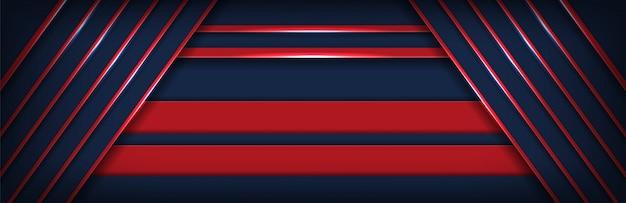 Abstrakter dunkler überlappungsschwarzhintergrund mit roter diagonaler linie