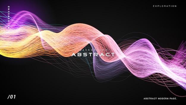 Abstrakter dunkler vibrierender heller faser-hintergrund