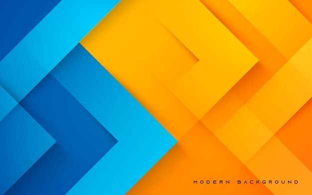 Abstrakter dynamischer blauer und oranger hintergrund
