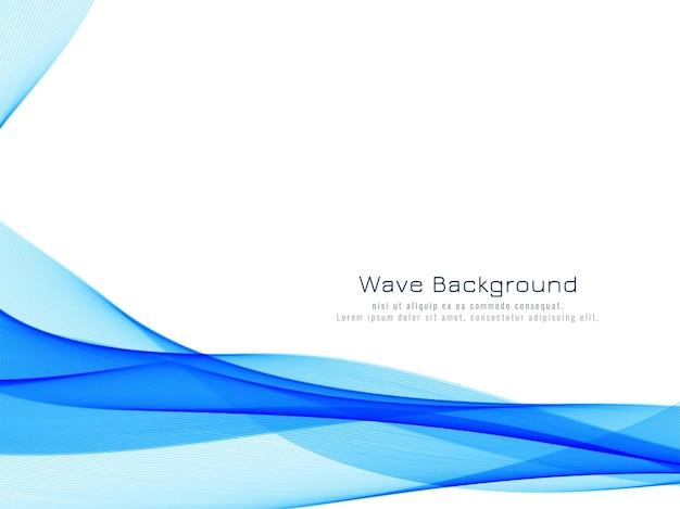 Abstrakter dynamischer blauer wellenhintergrund