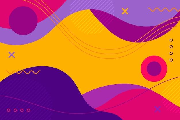 Abstrakter dynamischer formenhintergrund des flachen designs