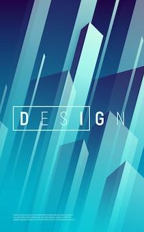 Abstrakter dynamischer geometrischer hintergrund, bunte minimale abdeckung