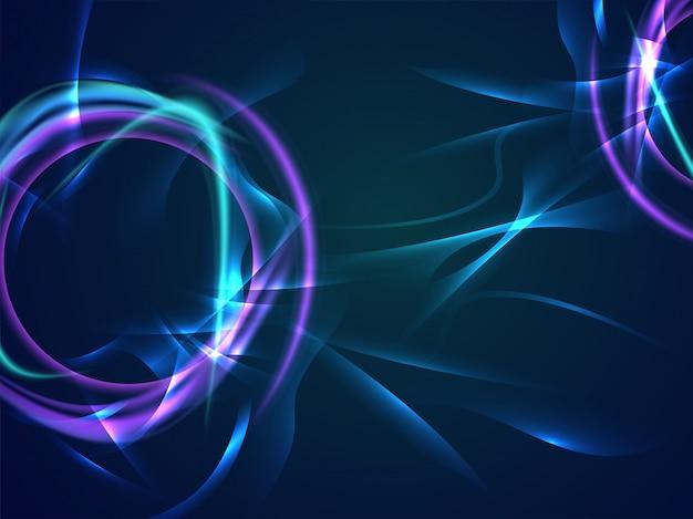 Abstrakter dynamischer hintergrund mit lichteffekt