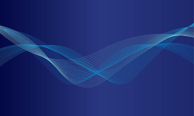 Abstrakter dynamischer wellenlinienhintergrund