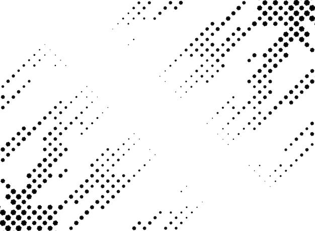 Abstrakter ecksechskant-halbton-hintergrundrahmen
