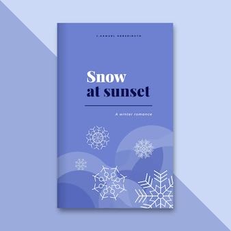 Abstrakter einfarbiger winterbuchumschlag