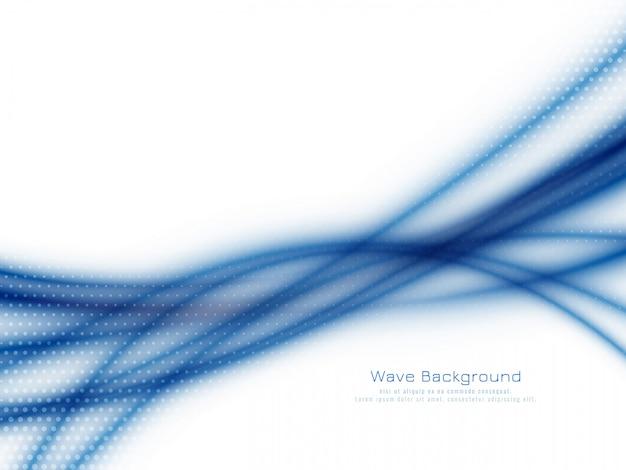 Abstrakter eleganter blauer wellenhintergrund